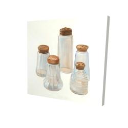 Canvas 24 x 24 - 3D - Vintage salt and pepper shaker