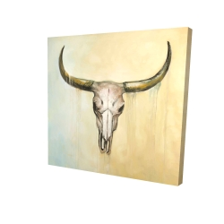 Canvas 24 x 24 - 3D - Cow skull
