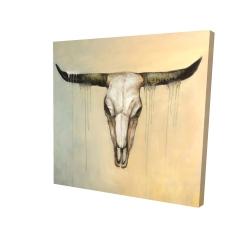 Canvas 24 x 24 - 3D - Bull skull