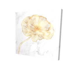 Canvas 24 x 24 - 3D - Golden poppy flower