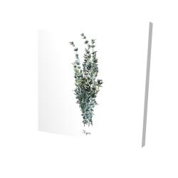Canvas 24 x 24 - 3D - Thyme leaves bundle - fr