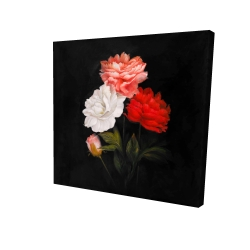 Canvas 24 x 24 - 3D - Small bundle of roses