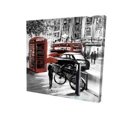 Canvas 24 x 24 - 3D - European street