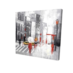 Canvas 24 x 24 - 3D - Abstract cloudy city street