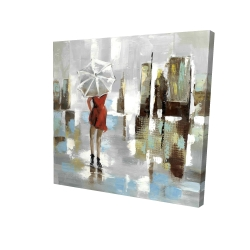 Canvas 24 x 24 - 3D - Red dress woman
