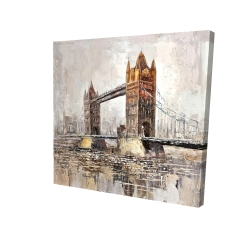Canvas 24 x 24 - 3D - London tower bridge