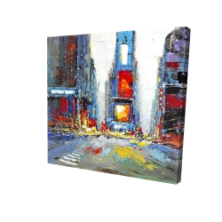 Canvas 24 x 24 - 3D - Abstract and colorful buildings