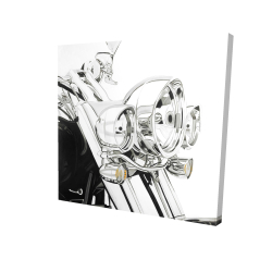 Canvas 24 x 24 - 3D - Motorcycle light