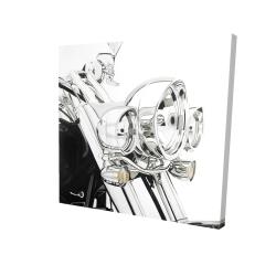 Canvas 24 x 24 - 3D - Motorcycle light