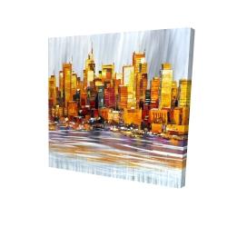 Canvas 24 x 24 - 3D - Orange buildings