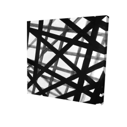 Canvas 24 x 24 - 3D - Abstract bold lines