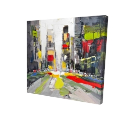 Canvas 24 x 24 - 3D - Abstract texturized cityscape