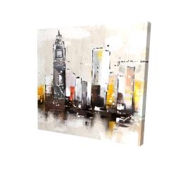 Canvas 24 x 24 - 3D - Artistic cityscape
