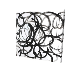 Canvas 24 x 24 - 3D - Abstract curly lines