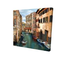 Canvas 24 x 24 - 3D - Magical venice canal