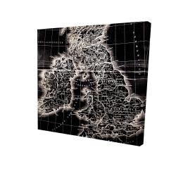 Canvas 24 x 24 - 3D - Roman britain maps