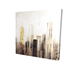 Canvas 24 x 24 - 3D - Earthy tones city