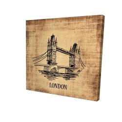 Canvas 24 x 24 - 3D - Tower bridge illustration