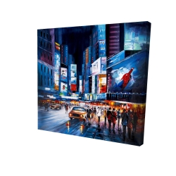 Toile 24 x 24 - 3D - Times square abstraite