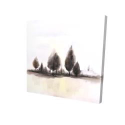 Canvas 24 x 24 - 3D - Landscape of trees