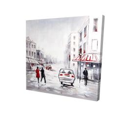 Canvas 24 x 24 - 3D - Peaceful street scene