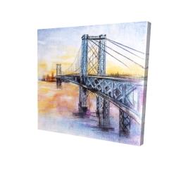 Canvas 24 x 24 - 3D - Abstract brooklyn bridge