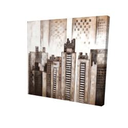Canvas 24 x 24 - 3D - Square city