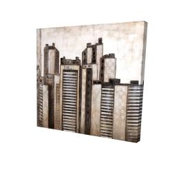 Canvas 24 x 24 - 3D - Striped skyscrapers