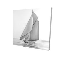 Canvas 24 x 24 - 3D - Vintage sailing ship