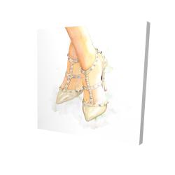Canvas 24 x 24 - 3D - Studded high heels