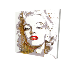 Canvas 24 x 24 - 3D - Marilyn monroe with typography