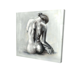 Canvas 24 x 24 - 3D - Nude woman from behind