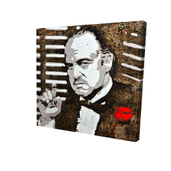 Canvas 24 x 24 - 3D - Black and white the godfather