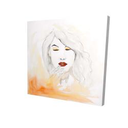 Canvas 24 x 24 - 3D - Portrait in watercolor
