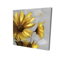 Canvas 24 x 24 - 3D - Mountain arnica flowers
