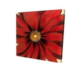 Canvas 24 x 24 - 3D - Red daisy