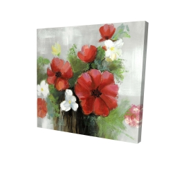 Canvas 24 x 24 - 3D - Abstract wild flowers bundle