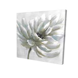 Canvas 24 x 24 - 3D - White chrysanthemum
