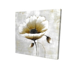 Canvas 24 x 24 - 3D - Modern beige flower