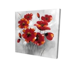 Canvas 24 x 24 - 3D - Anemone flowers