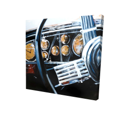 Canvas 24 x 24 - 3D - Vintage car interior