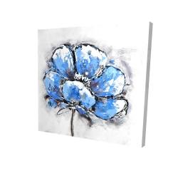 Canvas 24 x 24 - 3D - Abstract blue petals