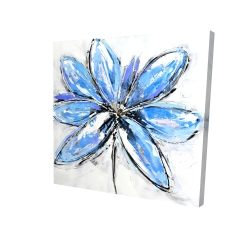 Canvas 24 x 24 - 3D - Blue flower