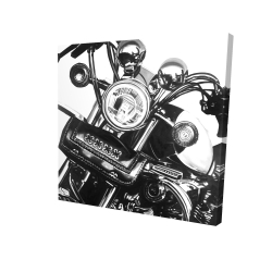 Canvas 24 x 24 - 3D - Realistic motorcycle