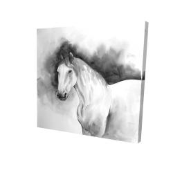 Canvas 24 x 24 - 3D - Domino horse