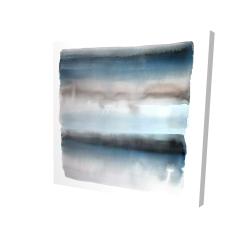 Canvas 24 x 24 - 3D - Blue stripes