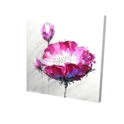 Canvas 24 x 24 - 3D - Fuchsia wild flower