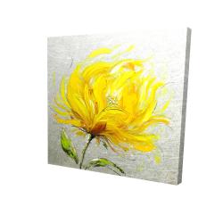 Canvas 24 x 24 - 3D - Yellow fluffy flower