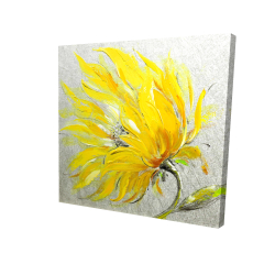 Canvas 24 x 24 - 3D - Yellow flower