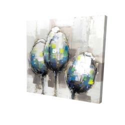 Canvas 24 x 24 - 3D - Three abstract tulips